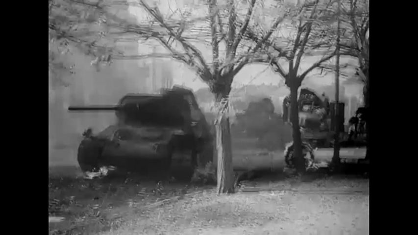 CIRCA 1940s - German tank superiority is shown during World War 2 in this propaganda film