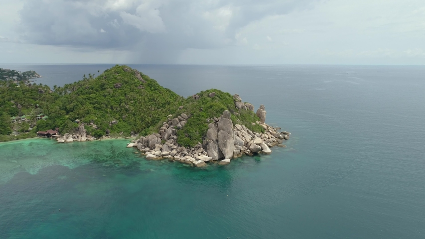 Aerial view on tropical island ko tao thailand | Shutterstock HD Video #1041187216