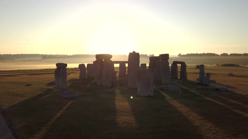 Stonehenge/England   Aerial video from Stonehenge , a famous landmark in England     taken by drone camera | Shutterstock HD Video #1042132306