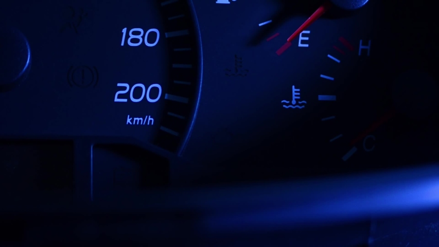 Check engine light symbol that pops up on dashboard when something goes wrong with the engine | Shutterstock HD Video #1042221466