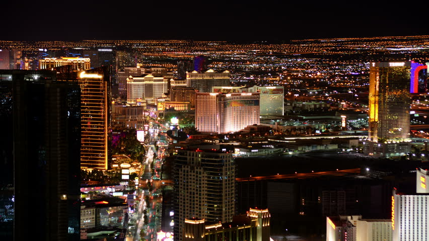 Las Vegas Timelapse Cityscape 04 Las Vegas Strip at Night | Shutterstock HD Video #10422446