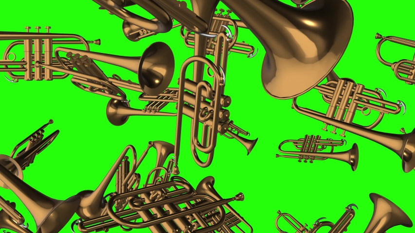 Green screen music trumpets music golden music green screen jazz trumpets jazz golden jazz green screen band trumpets band golden band green screen falling trumpets falling golden falling animation 3d | Shutterstock HD Video #1042589446