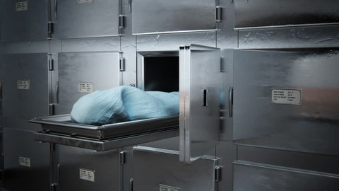 02299 Dead Body Covered With Cloth In Morgue