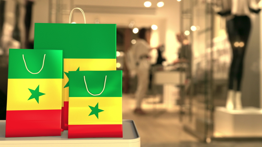 Flag of Senegal on the computer keyboard. Retail related clip | Shutterstock HD Video #1042782436