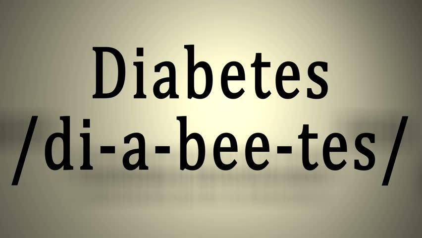 Definition: Diabetes | Shutterstock HD Video #10433066