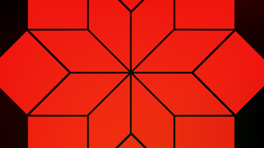 Red object on a black background in the shape of chained rhombuses that rotates clockwise, with an anchor point positioned in the center. | Shutterstock HD Video #1044654556