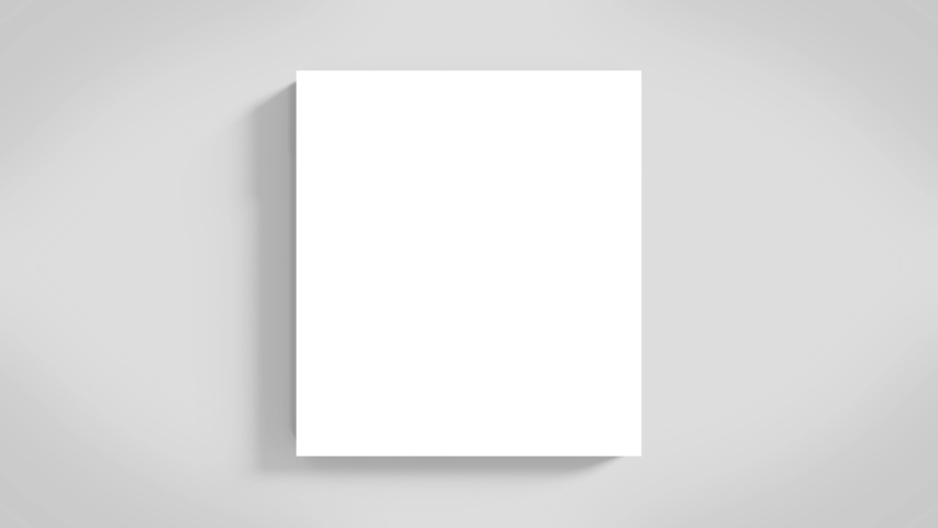 Empty White square paper plate or stage with rotating light shadow background.   Shutterstock HD Video #1044956596