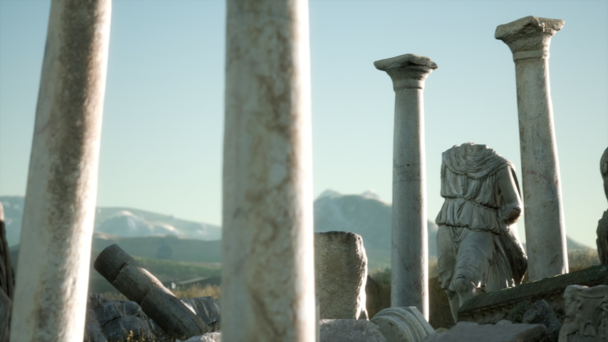 The ancient Greek temple in Italy | Shutterstock HD Video #1044987676
