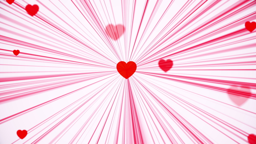 Valentine's Day greeting animation, video of connected hearts | Shutterstock HD Video #1045184506
