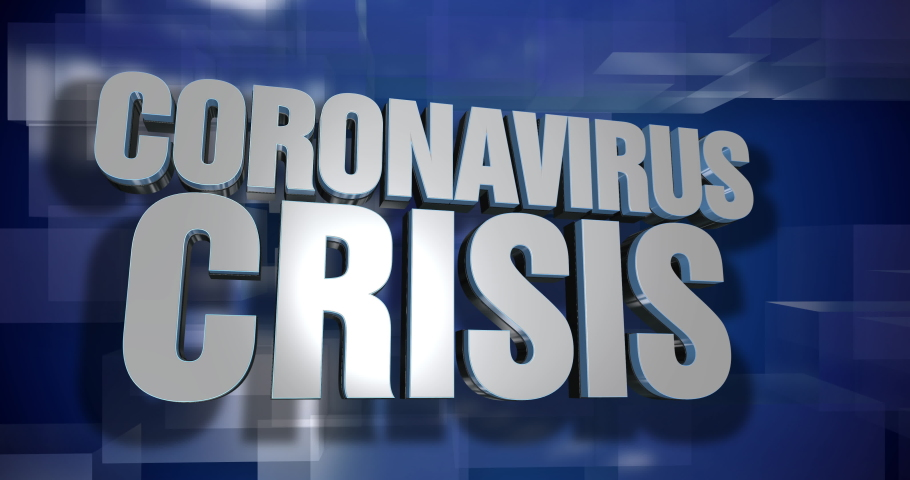 A blue dynamic 3D Coronavirus Crisis news transition and title page animation. 5 and 2 second options included. Green screen.   | Shutterstock HD Video #1045823446