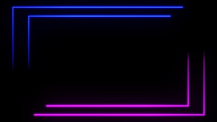 BEST abstract seamless background blue purple spectrum looped animation ultraviolet light 4k glowing neon line. Perfect for projection mapping. Includes Luma Matte to easily slot in your footage.