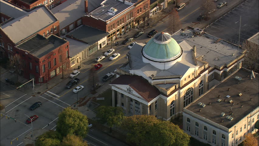 AERIAL United States-Augusta City Centre 2008 | Shutterstock HD Video #10465316