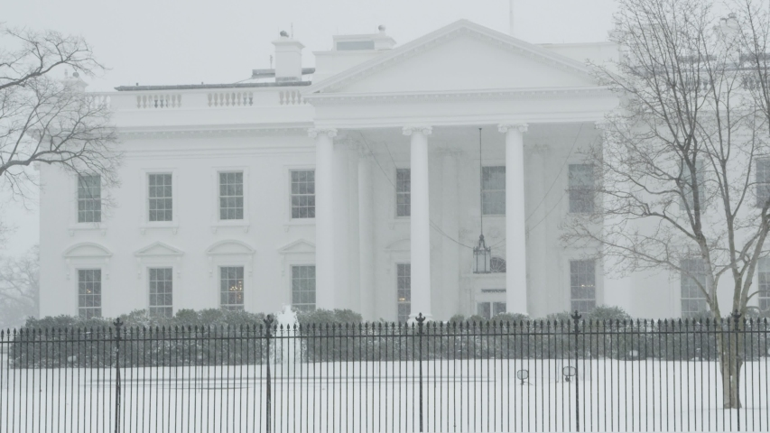 Close Up Of White House In Snow | Shutterstock HD Video #1046592016