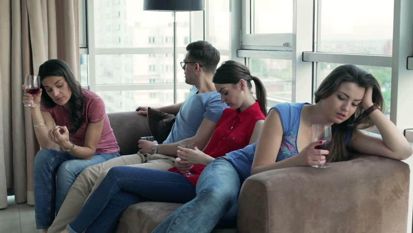 Group Of Teens Sitting Together Talking And Laughing Stock -4347