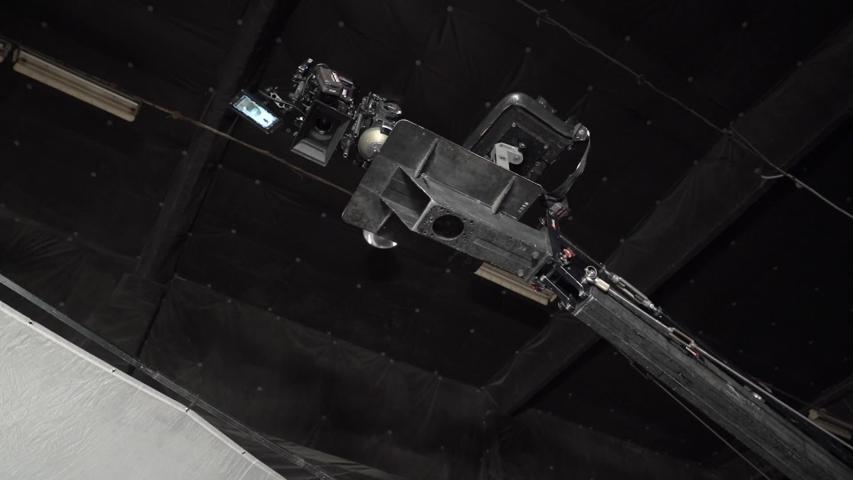 Film camera on the crane professional equipment studio video production tools | Shutterstock HD Video #1046888746