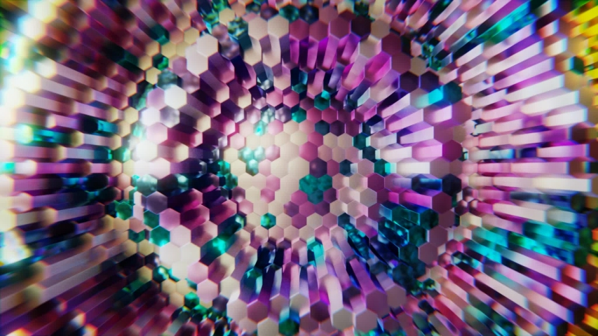 Vj video. Abstract moving fluid. Visual illusions, moving waves. Psychedelic abstraction for hypnosis. Background for playing video jockey, Computer graphics for the design of concerts, nightclubs | Shutterstock HD Video #1047021976