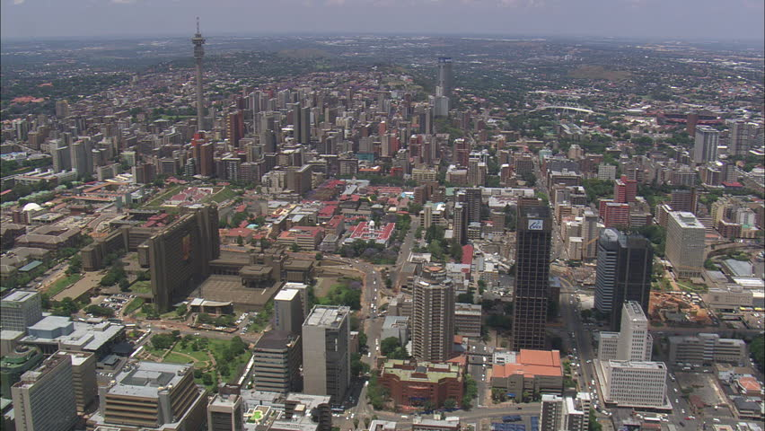 AERIAL South Africa-Johannesburg City Centre 2009 | Shutterstock HD Video #10470401