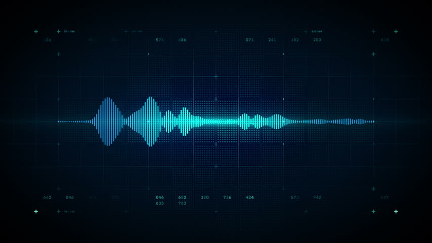 A visualization of an audio waveform. This clip is available in multiple other color options and loops seamlessly.