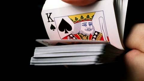 Shuffling Playing Cards Super Slow Motion