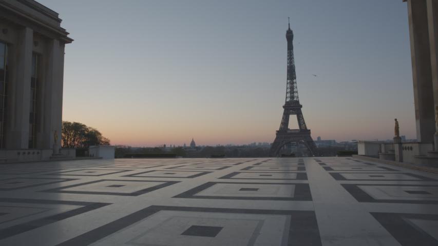 Tour Eiffel Paris Vide Coronavirus Confinement | Shutterstock HD Video #1049307316