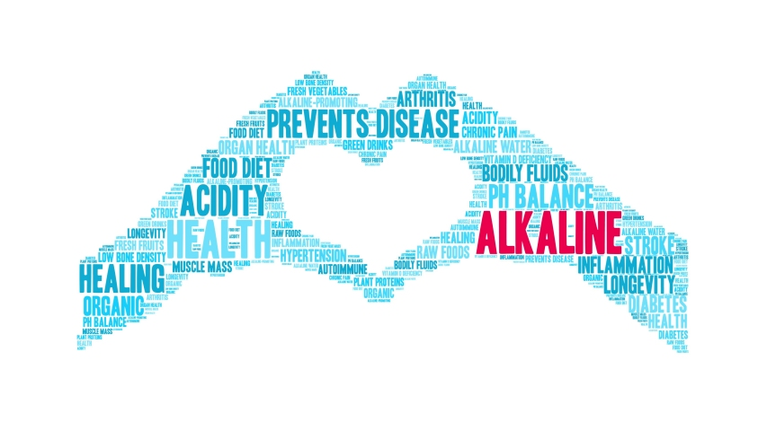 Alkaline animated word cloud on a white background.   Shutterstock HD Video #1049475706