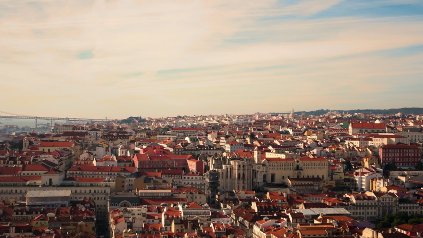 Lisboa time lapse at sunset | Shutterstock HD Video #1049719756