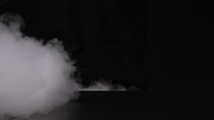4k footage abstract smoke cloud Smoke in slow motion on black backgrou | Shutterstock HD Video #1049733346