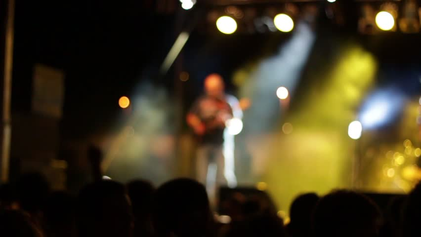 Slow motion footage of a crowd at the concert. | Shutterstock HD Video #10498736