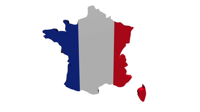 France Map Flag.France Map Flag With Container Stock Footage Video 100 Royalty