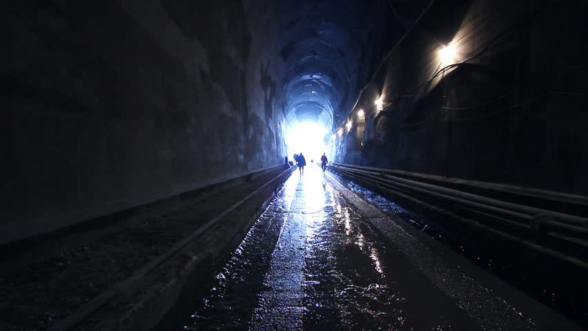 A Long Tunnel People In Stock Footage Video 100 Royalty Free