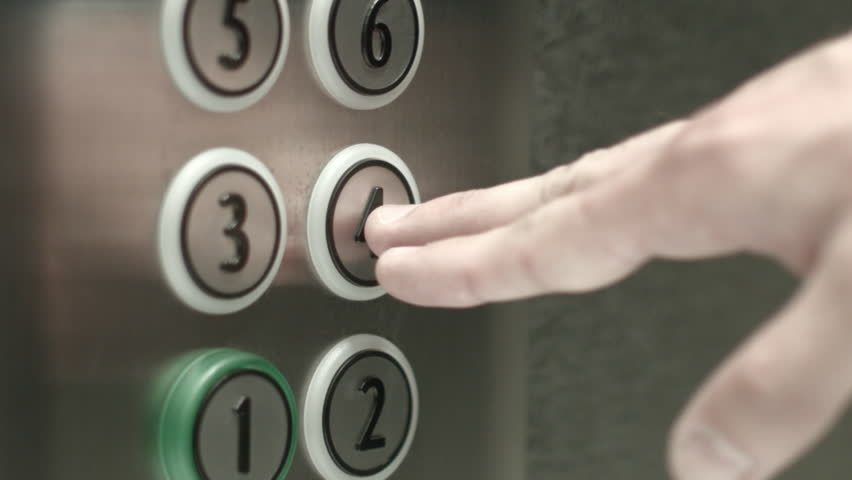 Lovely Man Presses A Button The Fourth Floor In An Elevator Stock Footage Video  10528106 | Shutterstock