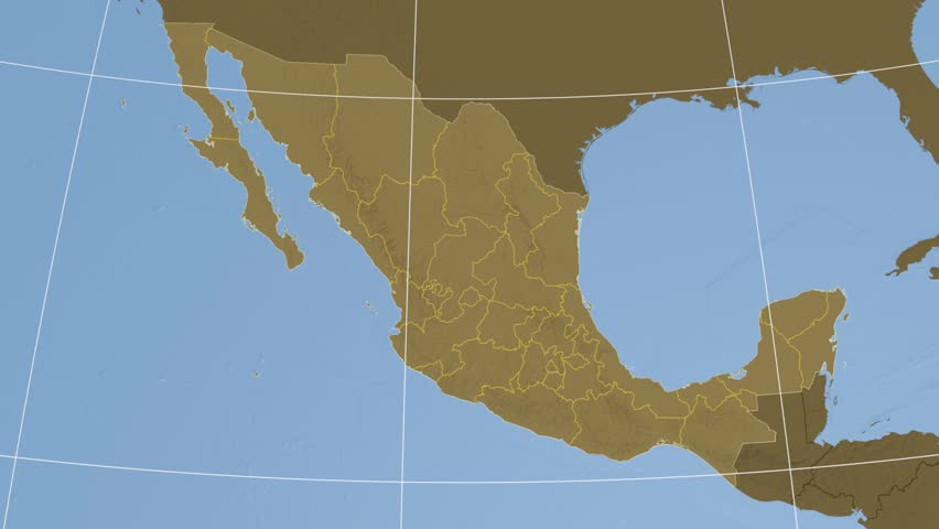 Stock video of sinaloa state extruded on the elevation   10533749 ...
