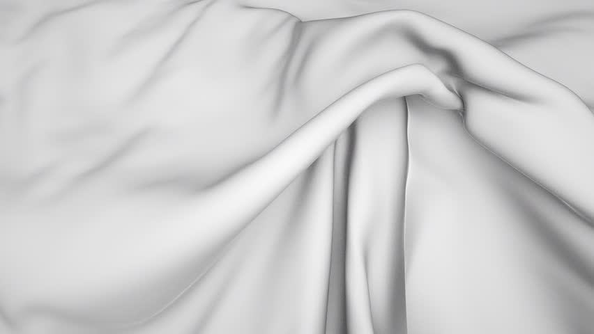 3d flowing white cloth, weaving textile, white silk background with alpha channel   Shutterstock HD Video #10552835