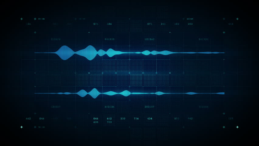 A visualization of audio waveforms. This clip is available in multiple other color options and loops seamlessly.
