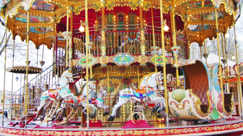 Merry Go Round Carousel Park Attraction