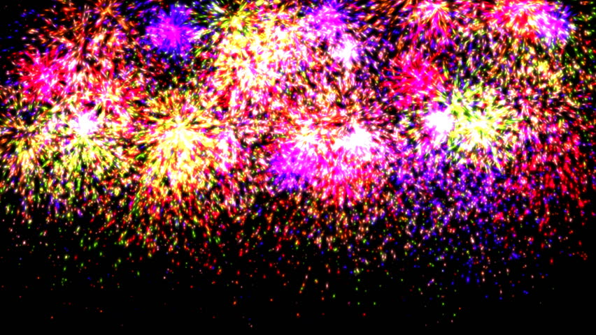 Fireworks with audio.  Fireworks In The Night Sky.  | Shutterstock HD Video #10559066
