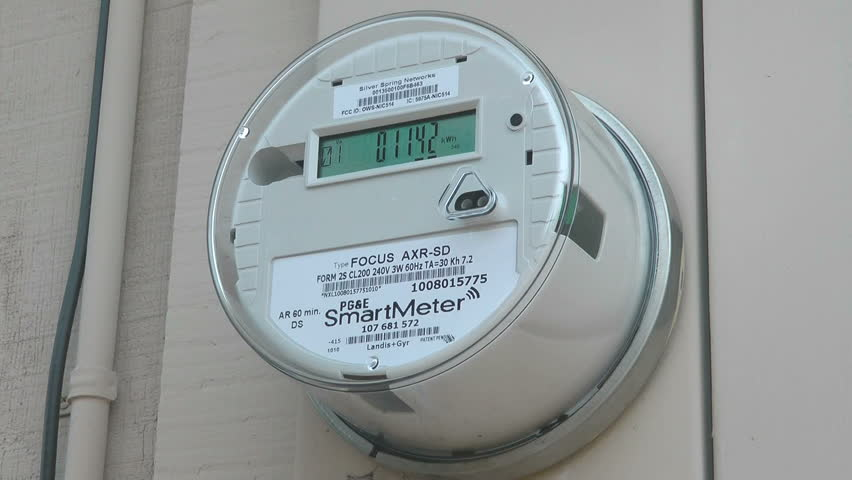 CALIFORNIA - CIRCA 2011: PG&E  installs electric SmartMeters on residential and commercial buildings.  SmartMeters have the ability to tell customers how much energy they are using in real time.