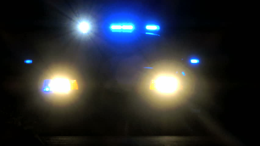 Flashing police lights on cop car at night  | Shutterstock HD Video #10674386