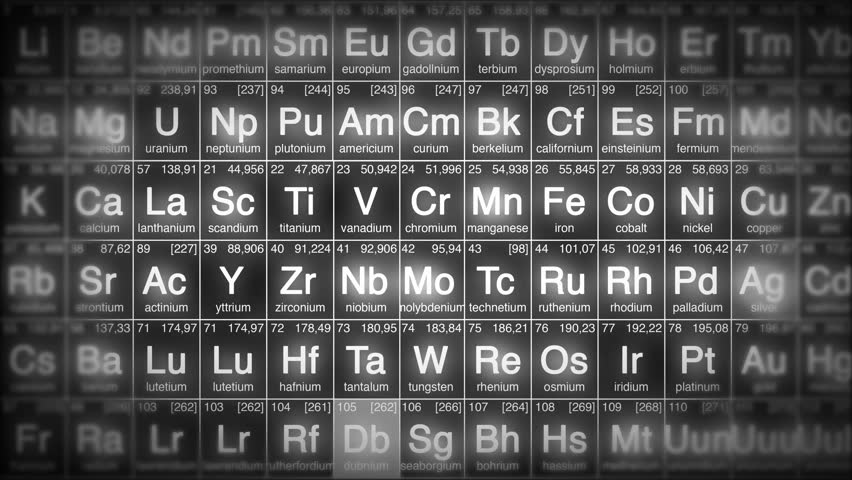 Periodic table perfect loop background loopable blue white or periodic table perfect loop background loopable blue white or red 4k ultra hd urtaz Gallery