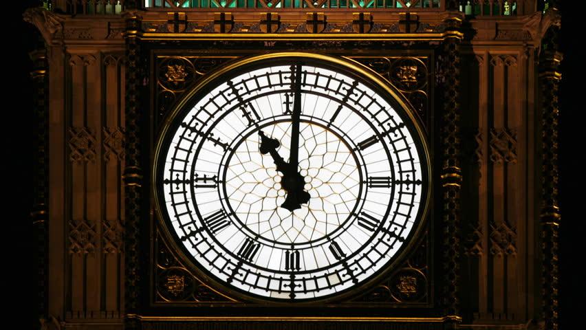 Close Up Of The Clock Face, Big Ben, British Parliament ...