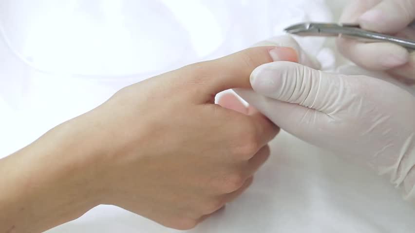 Manicure process in a beauty salon #10801646