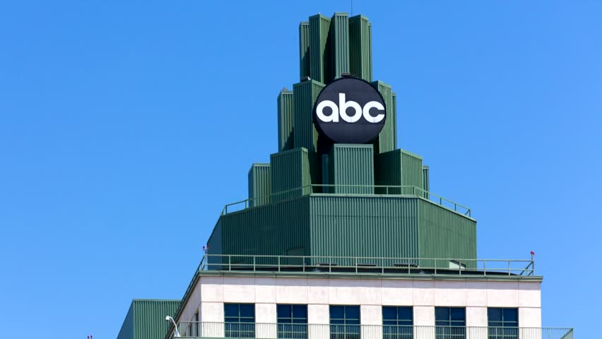 BURBANK, CA/USA - MAY 2, 2015: ABC Television Center building and Logo. ABC is a television broadcast corporation in the United States.