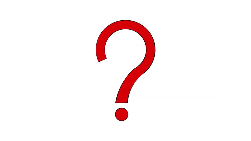 Red Question Mark Bouncing - Seamless Looping Stock ...
