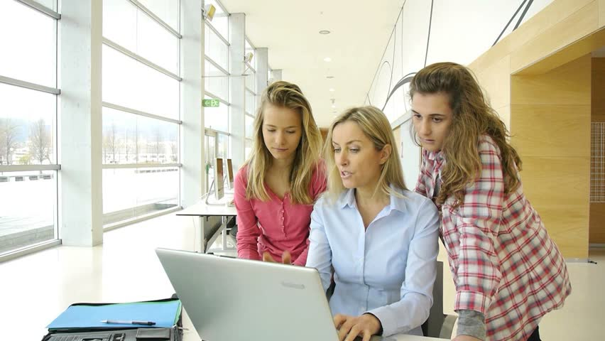 Students and teacher in training course   Shutterstock HD Video #1084717