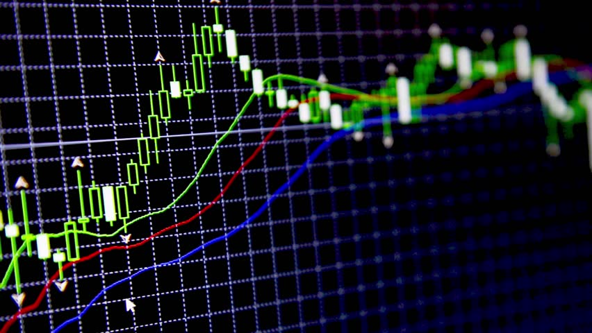 Movement of financial charts on the currency market  | Shutterstock HD Video #10847492
