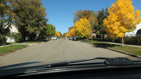 BRANDON, CANADA on SEPT 23rd: Driving through Brandon, Manitoba, Canada on September 23rd, 2015. Brandon is the second-largest city in Manitoba, Canada.