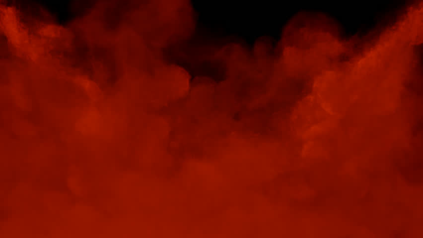 red smoke isolated on black background stock footage video