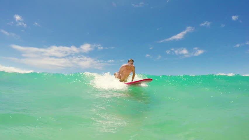 Slow Motion Shot Of Surfer Stock Footage Video 100 Royalty Free