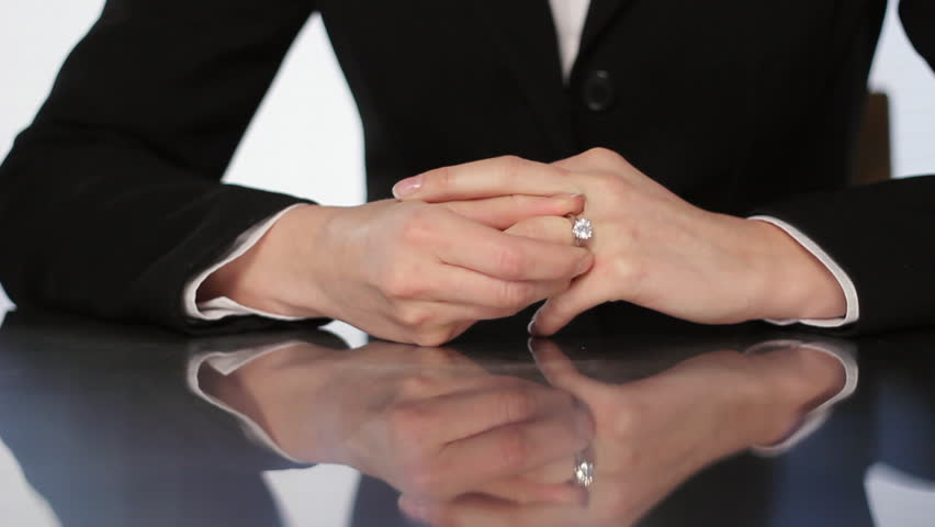 Divorce A Woman Hand Take Off A Diamond Ring From The Finger Stock