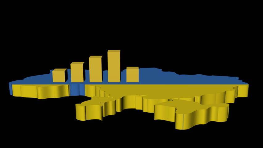 Graph On Kazakhstan Map Flag Animation Stock Footage Video - Kazakhstan map hd
